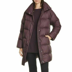 Eileen Fisher Cassis Funnel Neck Down Parka NWT